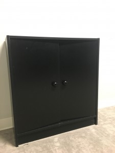 Black Bookcase with doors
