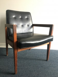 Black Leather Conference Room Chair